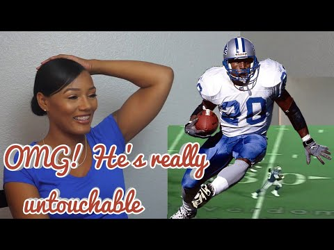 Clueless New Football Fan Reacts To Barry Sanders - Untouchable NFL Running Back Highlights
