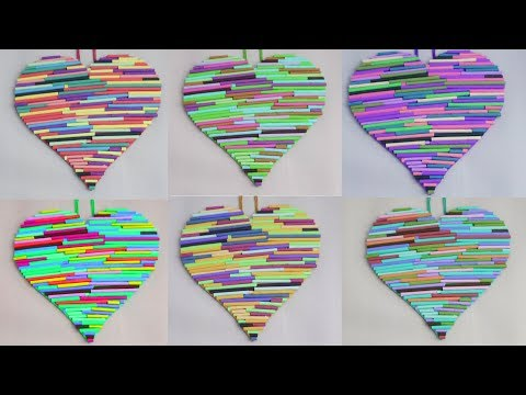 Paper Heart !! DIY Room Decor 2019 || Wall Hanging Making at Home