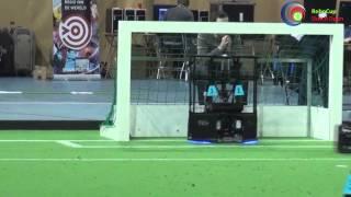 Nederland VS Duitsland robot voetbal