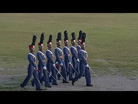 PMA  Class 2020 (Masidlawin) Sunset Parade - 02 January 2017: The traditional Sunset Parade (or Evening Parade) rendered by the fourth class cadets (freshmen), the  PMA Masidlawin Class of 2020, as a tribute to their uppeclassmen (and women) upon the latter's return from yuletide break.  They also want to show their seniors that, in just their few months in the academy, they too learned the drill of strutting their stuff on the Borromeo Field, like bloody peacocks  - all on their own. In the eyes of their upperclassmen, however, they look like young pups trying hard to imitate their betters, though they may grudgingly agree that these pups learned something after all.  So let's give them some slack...(Though the way they hold their rank alignment during pass and review is kind of impressive, freshmen cadets notwithstanding)  The parading troops was led by Cdt 4C John Tumanda as Brigade Commander with Cadet 4C Julius Del Prado as Brigade Adjutant.