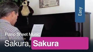 Free Sheet Music | Sakura, Sakura for Easy Piano