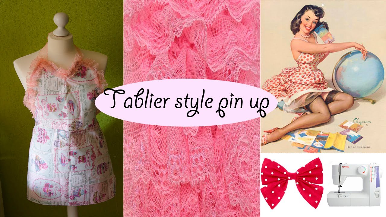 DIY Comment faire un tablier style pin up - YouTube