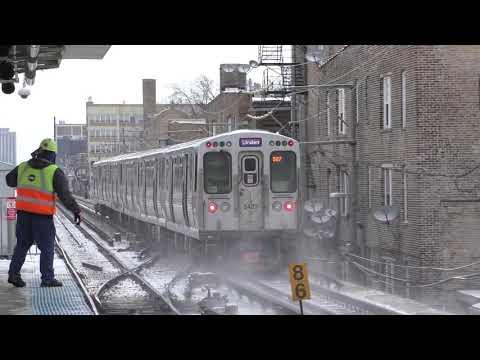 CTA HD 60fps: 5000 Series Red & Purple Line Express Trains Between Howard & Belmont (2/11/19)
