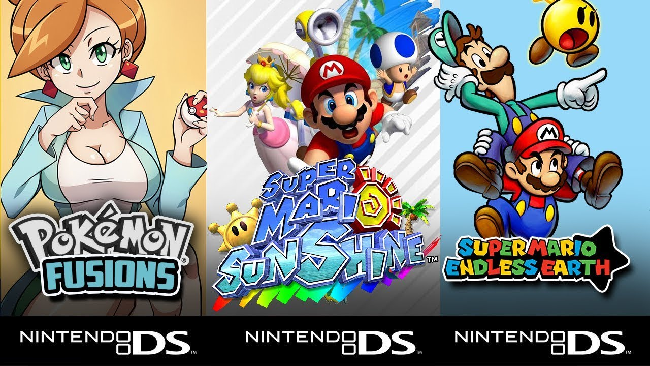 TOP 5: Hack Roms Ds (NDS): Pokemon, Super Mario Sunshine, Mario ...