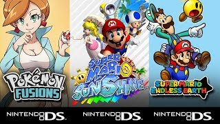 Top 5 Hack Roms Ds Nds Pokemon Super Mario Sunshine Mario Kart Drastic Youtube