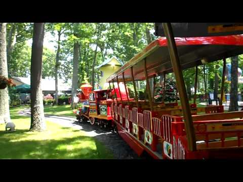 Storybook Land Round Trip Through The Park On The Train. HD