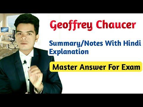 Geoffrey Chaucer Summary In Hindi    English Literature    Hinours (raj English)