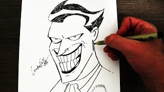 Como Desenhar o Coringa [Animated Series 97] - (How to Draw Joker) - SLAY DESENHOS #210