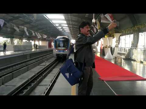 Hyderabad Metro Rail | Exclusive Visulas Of City From Miyapur To Ameerpet Stretch |
