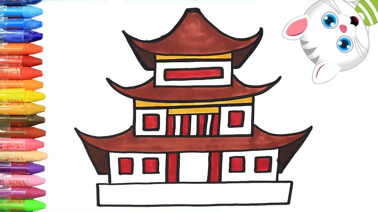 Rumah Tradisional Jepang Cara Menggambar Dan Mewarnai TV Anak
