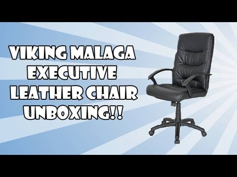 Viking Malaga Executive Leather Faced Chair Unboxing YouTube - Viking office chair