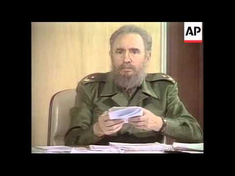 CUBA: HAVANA CITY: CASTRO - TV ATTACK ON DISSIDENTS
