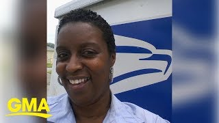 USPS worker delivers amazing rendition of 'At Last' to celebrate retirement | GMA Digital