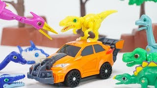 공룡메카드 새로운 캡처카 데본느 + 니쿠스 등장! 타이니소어 고!   토이문
