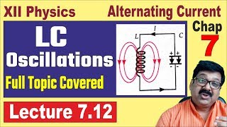 LC Oscillations, Fully Covered, Alternating Current, Class 12 Physics Chapter 7, JEE, NEET, 7.12