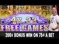 😲 200X BONUS WIN on 75¢ a Bet 🐃 Buffalo Diamond Deliciousness