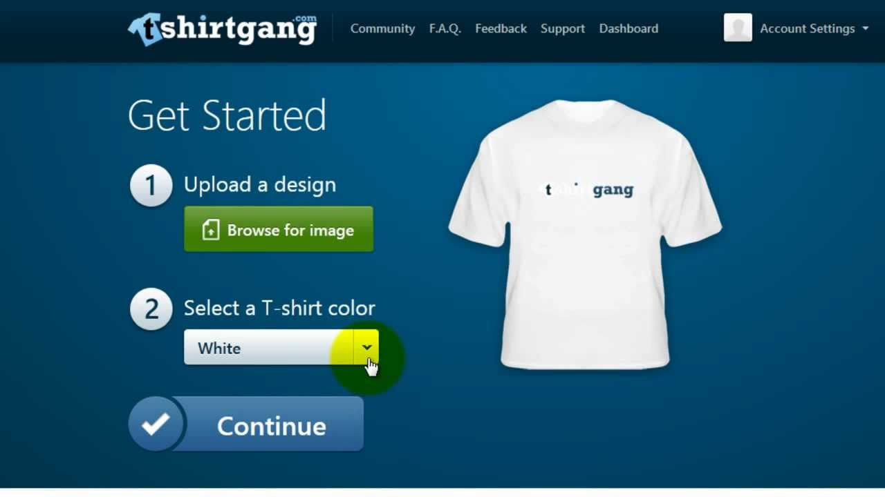 Design your own t shirt ebay - Tshirtgang Com Getting Started On Your T Shirt Business Quick Tutorial