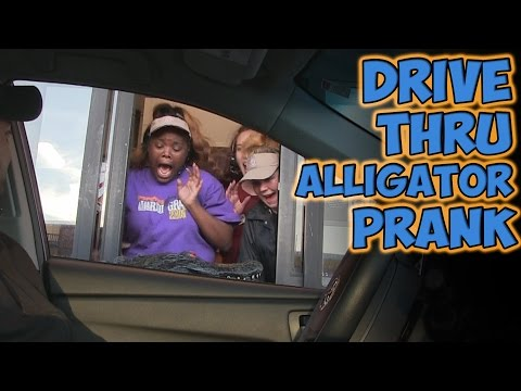 DRIVE THRU ALLIGATOR PRANK!!
