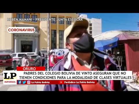 Padres colegio Bolivia de Vinto aseguran...