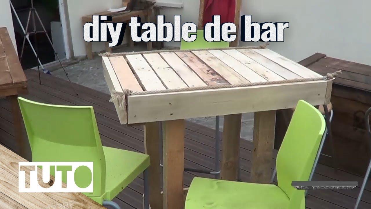 Fabriquer Une Table De Bar En Bois De Palette Et Recip
