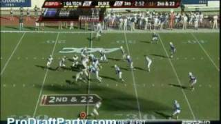 WR Demaryius Thomas Highlights/Lowlights 2009 Georgia Tech
