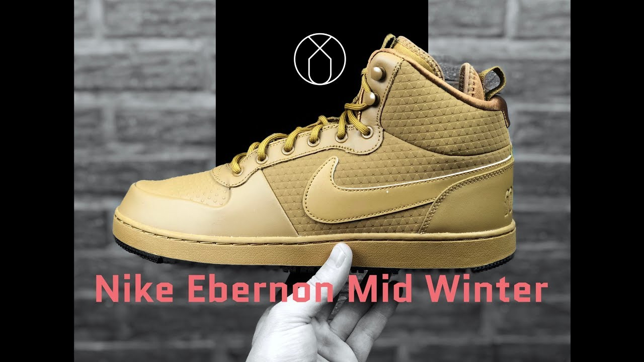 6808d5285c0a Nike Ebernon Mid Winter  Wheat Wheat-Black