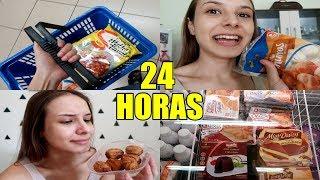 24 HORAS COMENDO SÓ COMIDA CONGELADA !!!