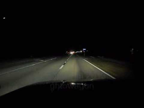 HIR 9012 9011 headlight bulb test a night