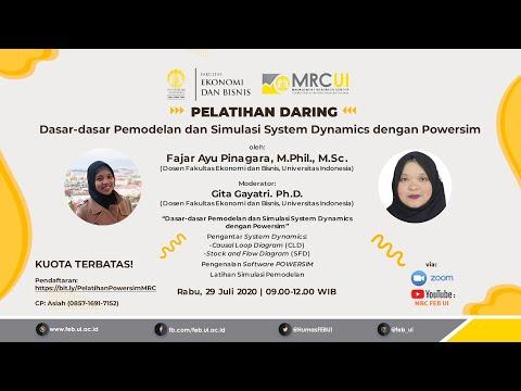 Pelatihan Daring Dasar-Dasar Pemodelan Dan Simulasi System Dynamic Dengan Powersim