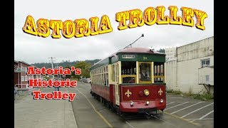 Historic Waterfront Trolley in Astoria Oregon