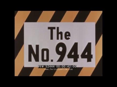 1950s CATERPILLAR CAT 944 TRAXCAVATOR  FRONT END WHEEL LOADER  CONSTRUCTION PROMO 52444