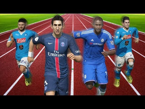 FIFA 16 Speed Test | Fastest Central Midfielders (CDM/CM/CAM) in FIFA (without the ball)