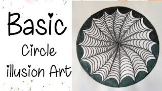 Easy 3D Circle Illusion|Trick Art |ANTI-STRESS DRAWINGS for kids and beginners