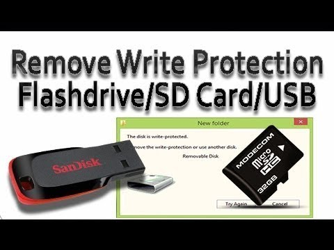 How To FIX/Remove Write Protection From USB Flash Drive/SD Card Urdu/Hindi Tutorial