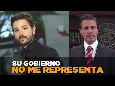 Diego Luna manda mensaje a EPN sobre Caravana Migrante CaravanaMigrante