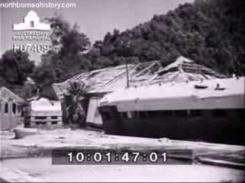 Views of Damaged Jesselton in British North Borneo after WWII (1945)