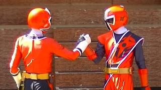 手裏剣戦隊ニンニンジャーと侍戦隊シンケンジャーからシンケンレッドが...