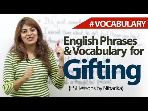 English lesson - Gifting - Learn English Vocabulary & Phrases
