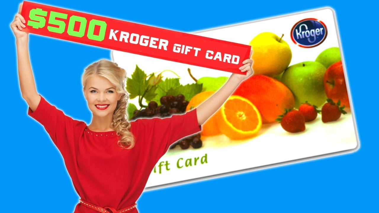 500 Kroger Gift Cards Springfield Youtube