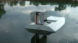 "Electric Home Made ""big Swamp Buggy"" Rc Airboat From Plywood"