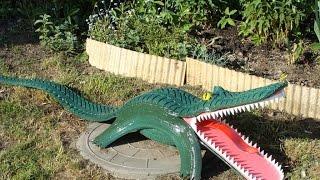 Поделка крокодил из шин и покрышек для сада и дачи(Какой дачник не пробовал украсить свою дачу поделками из шин и покрышек? Самая востребованная поделка из..., 2016-02-22T20:10:02.000Z)