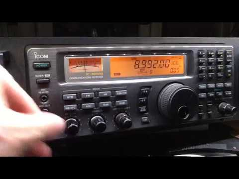 USAF 8992 USB Long EAM message follow . Icom IC-R8500 + G5RV