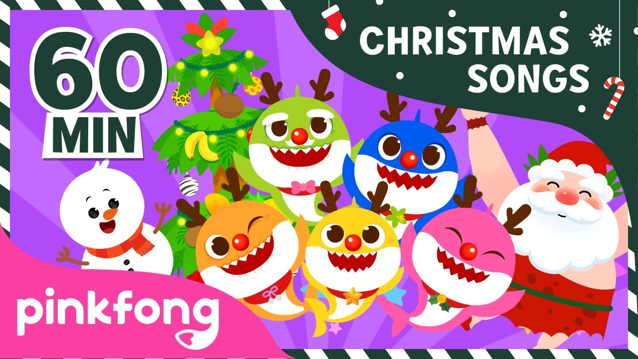 Red Nosed Baby Shark and more | Christmas Songs | +Compilation | Pinkfong Songs for Children