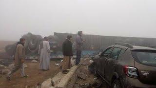 مصر العربية | شاهد  حادث تصادم 10سيارات على طريق إسكندرية الصحراوى