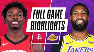 GAME RECAP: Lakers 124, Rockets 122