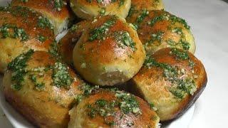 Пампушки с чесноком. Как приготовить пампушки к борщу. Удачный рецепт.Dumplings with garlic.