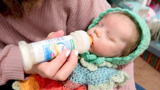 Reborn Baby Doll Nap Time Routine Getting Reborns Ready for Nap in Baby Nursery Playset