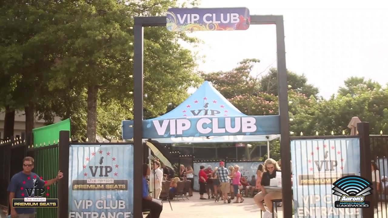Aarons Amphitheatre At Lakewood Vip Seating Youtube