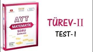 (2020) 345 AYT MATEMATİK TÜREV-II TEST-1 ÇÖZÜMLERİ