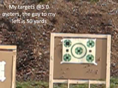 Stag Model 8 @ 50 meters with Barska 3-9 Tactical